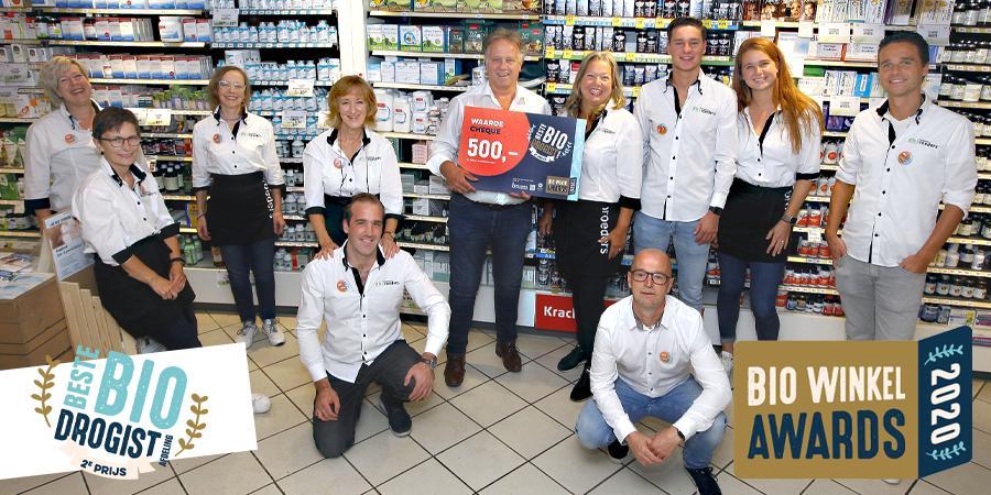 Broeders Gezondheidswinkel 2e bij verkiezing beste bio drogistafdeling van Nederland