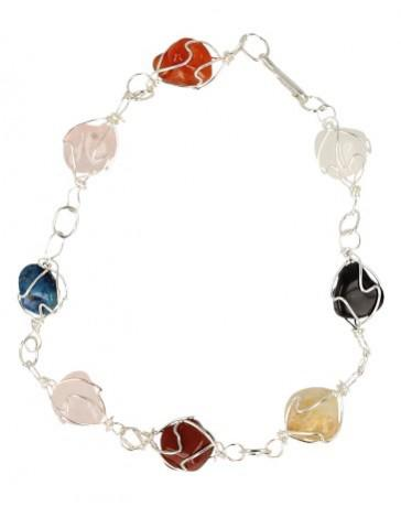 Armband multicolour edelsteen wire