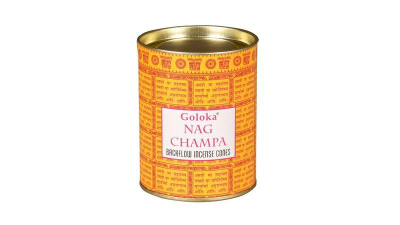 Goloka nag champa back flow cone
