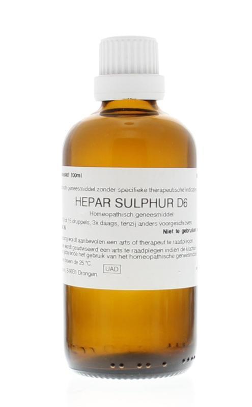 Hepar sulphur D6