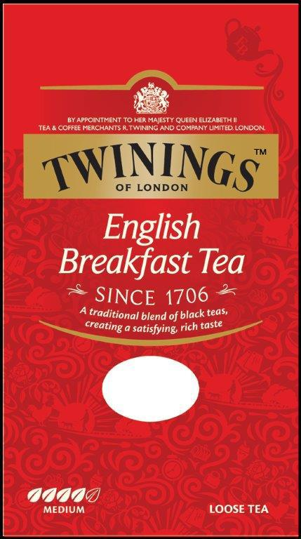 English breakfast tea karton