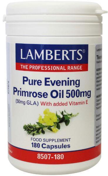 Teunisbloemolie 500 mg (pure evening primrose oil)