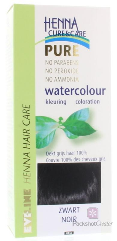 Watercolour zwart