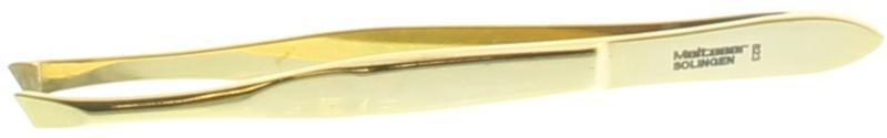 Pincet 8 cm verguld druks scheef 8