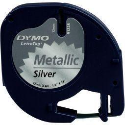 Letratag tape zilver metallic