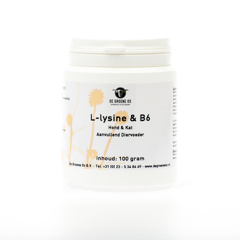 L-Lysine en Vitamine B6 hond/kat