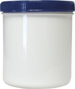 Zalfflacon wit bl met dop 250 ml