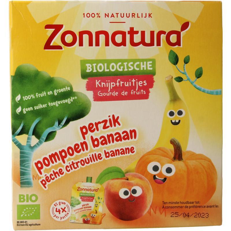 Knijpfruit banaan/pompoen/perzik kikker bio