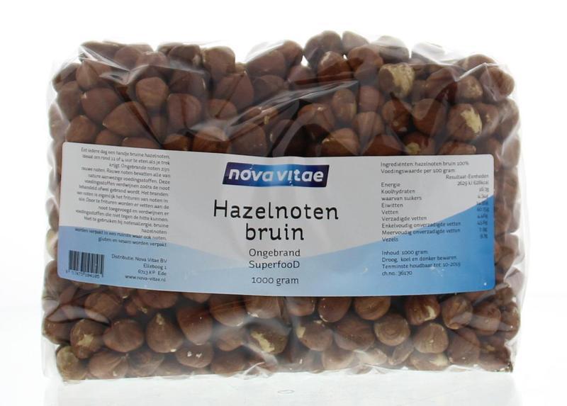 Hazelnoten bruin ongebrand raw