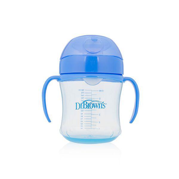 Drinkbeker blauw 180 ml zachte tuit