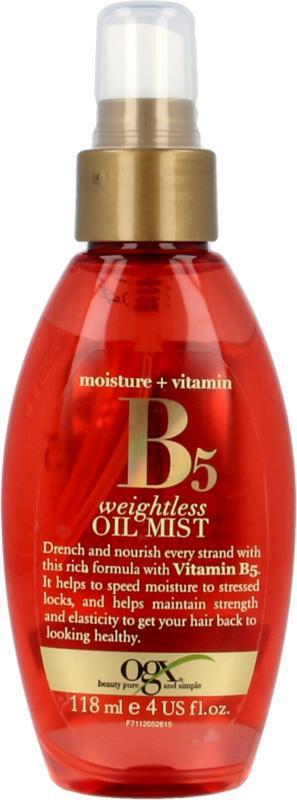 Vitamine B5 oil mist