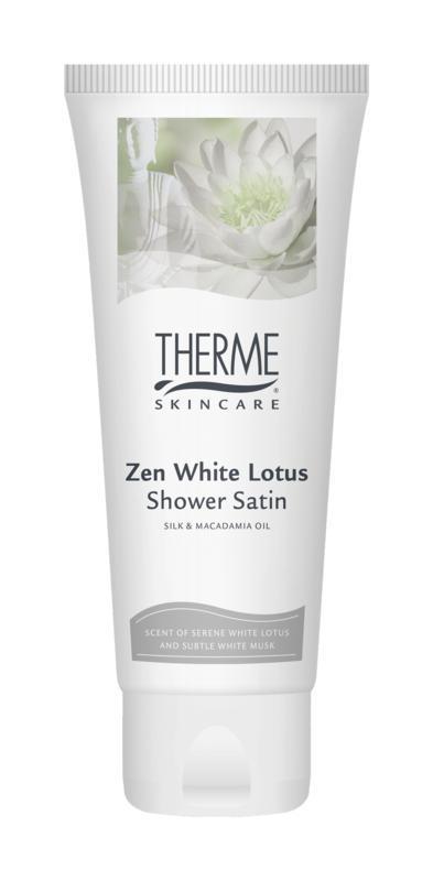 Geschenkverpakking Zen white lotus shower satin