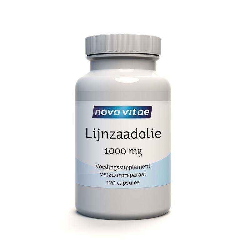 Lijnzaadolie 1000 mg puur (flaxseed oil)