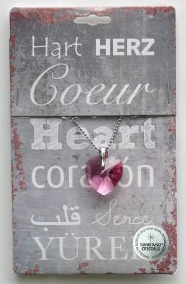 Strass hart pink