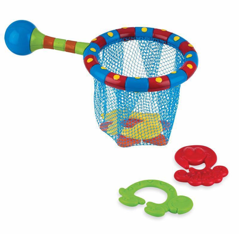 Badspeeltje net met 4 speeltjes