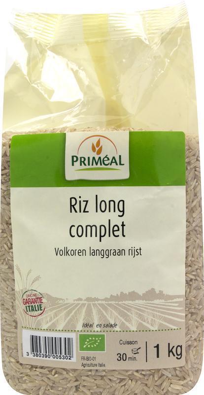 Volkoren langgraan rijst bio