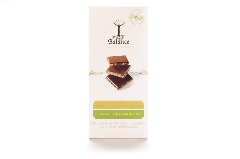 Choco stevia tablet melk pistache