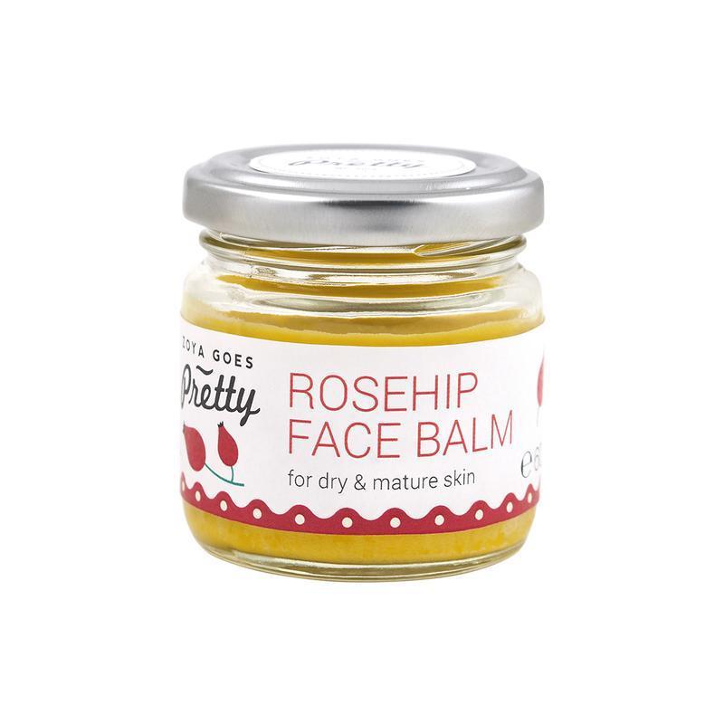 Face balm rosehip glazen potje