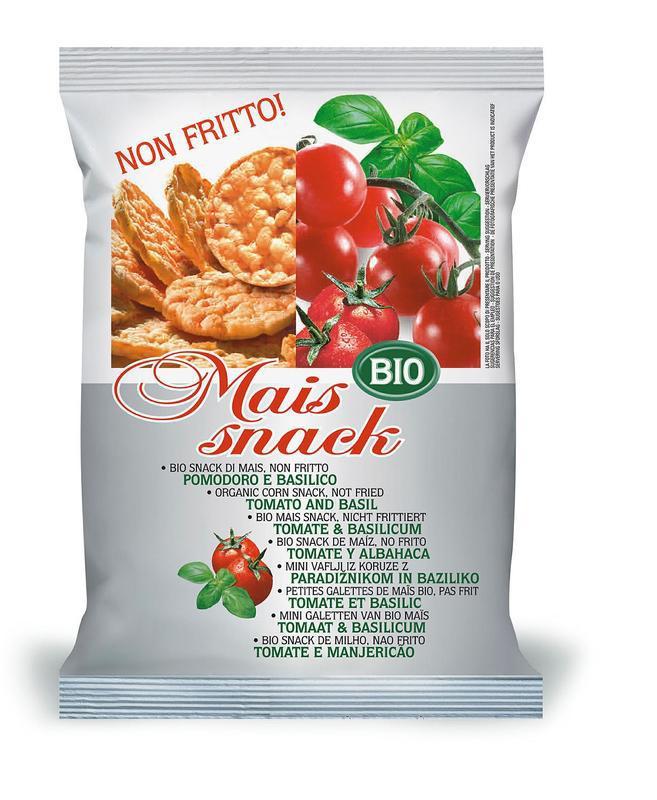Mais snack tomaat & basilicum bio
