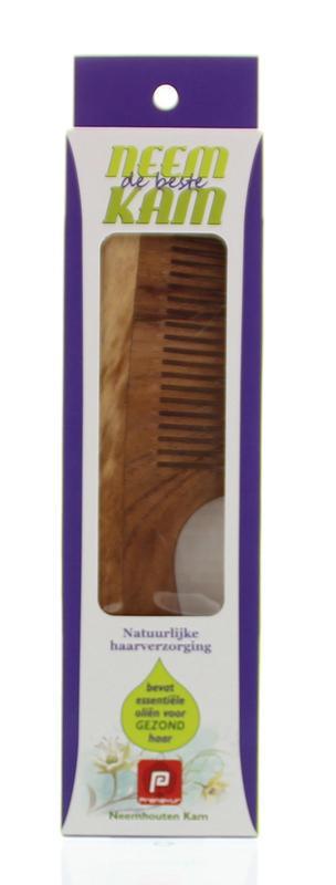 Neem houten kam handvat fijn