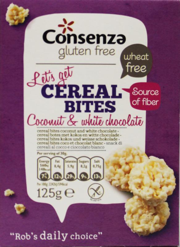 Kokos witte chocolade cerial bites