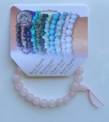 Powerbead armband roze kwarts
