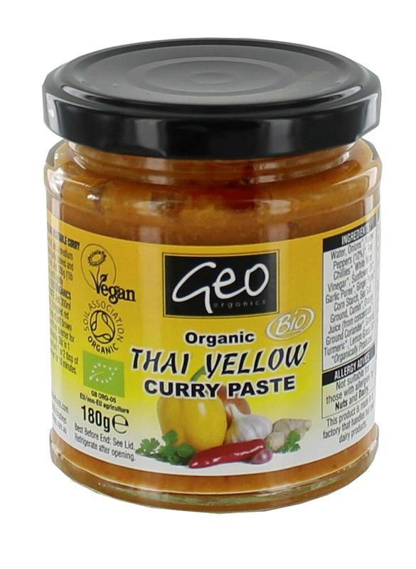 Curry paste thai yellow bio