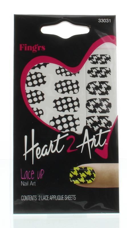 Heart2art lace up