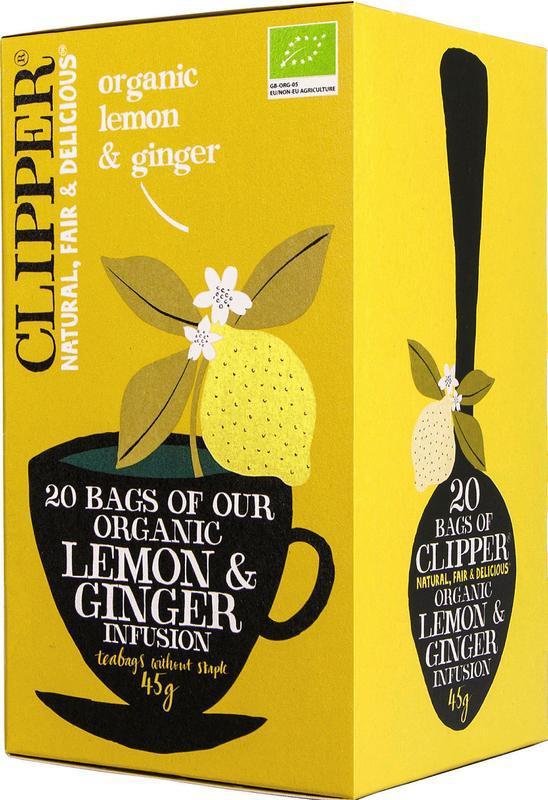 Lemon & ginger tea bio