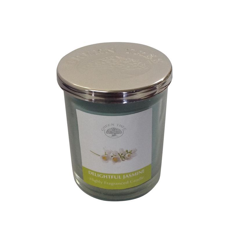 Geurkaars delightful jasmine glas