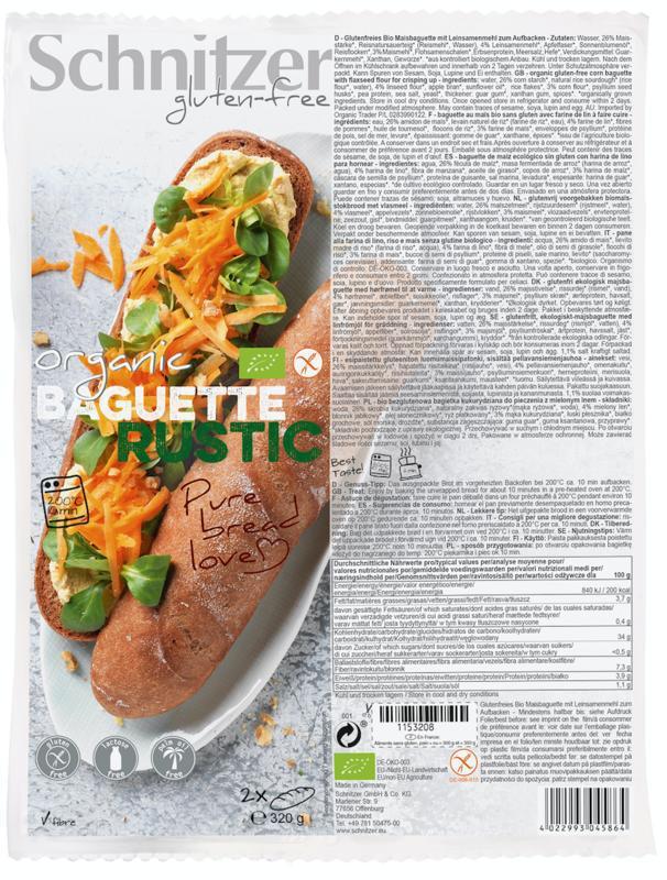 Baguette rustic 160 gram bio