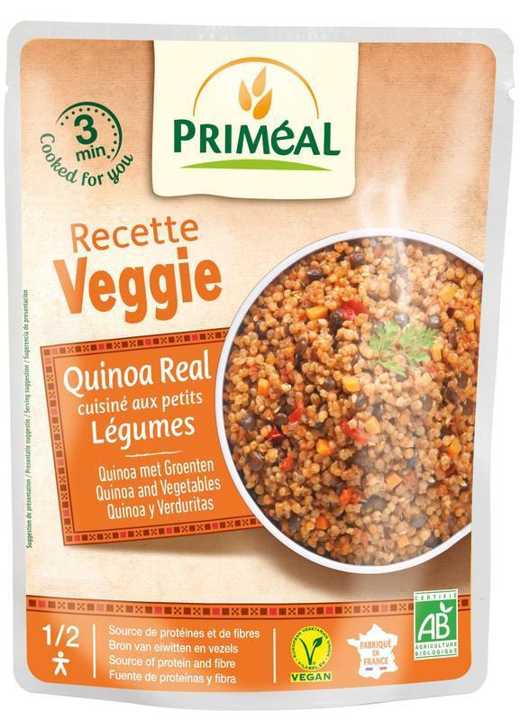 Recette Veggie Quinoa gekookt met groente