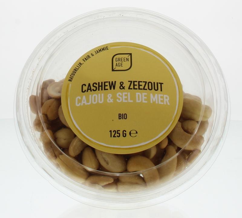 Cashewnoten met zeezout