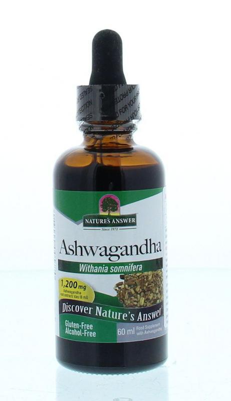 Ashwagandha extract alcoholvrij