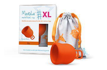 Menstruatiecup XL fox oranje