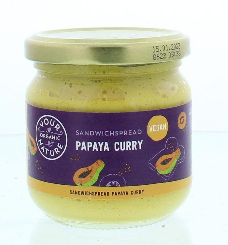Sandwichspread papaya-curry bio