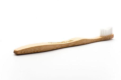 Tandenborstel bamboe adult wit brush soft