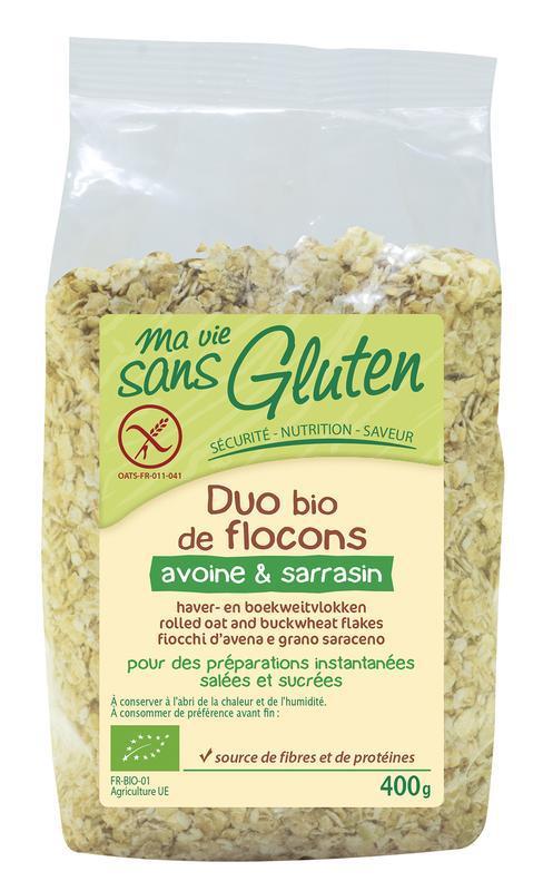 Haver en boekweit vlokken glutenvrij