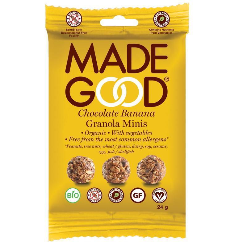Granola minis chocolade banaan bio