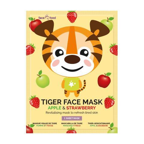 Tiger sheet face mask apple & strawberry