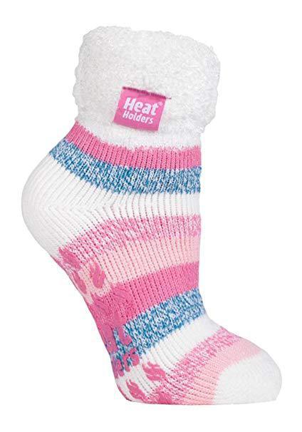 Ladies lounge socks cream stripe 4-8
