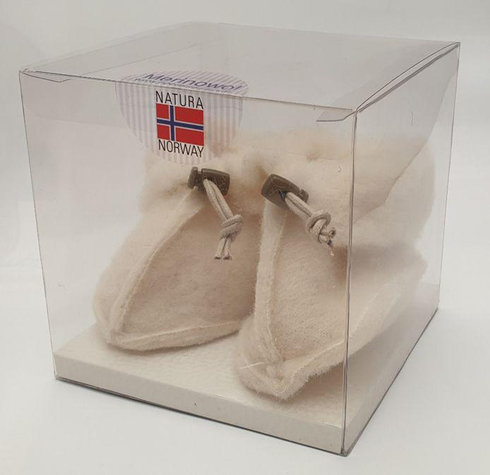 Noorse sloffen baby wit kubus
