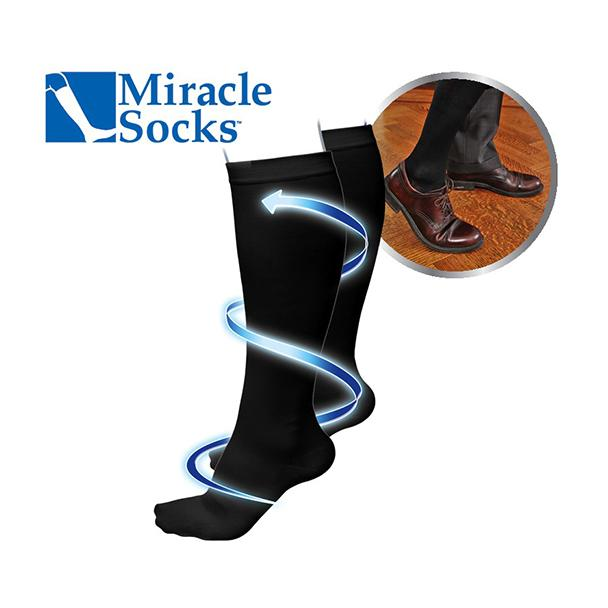 Miracle socks maat L/XL zwart