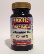 Vitamine d3 (cholecalciferol) 25 mcg ( 90 st