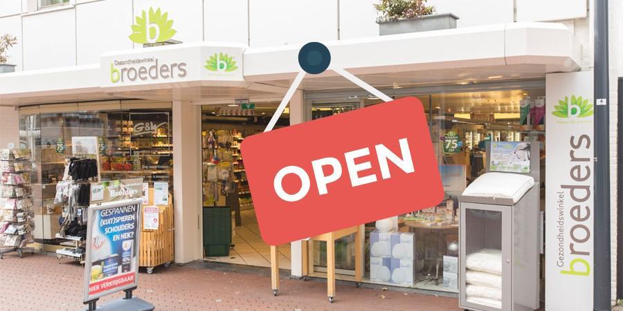 Onze winkel blijft gewoon open.