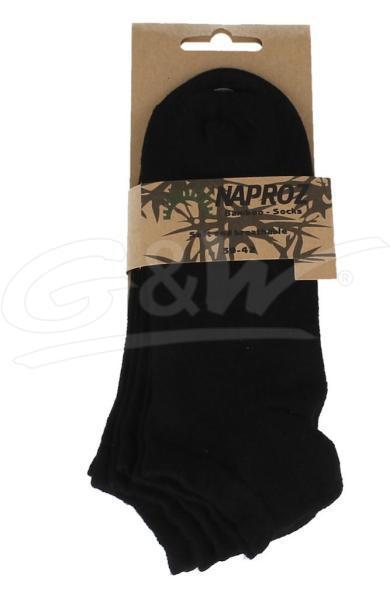 Airco shortsocks bamboo 3-pak 39-42 zwart dames 3 paa
