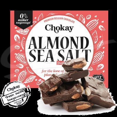 Tablet dark/almond/seasalt 105 gr