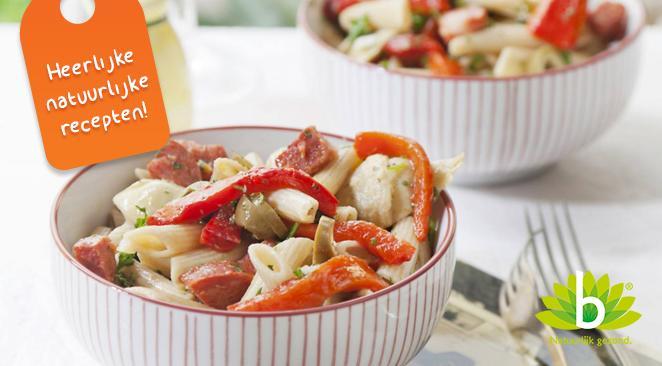 Recept: Pastasalade met chorizo, artisjok en paprika